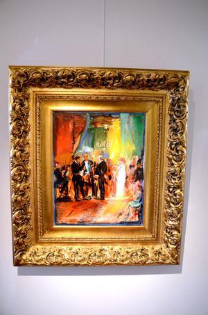 När Bo Åke Adamsson kom över den pråligt förgyllda ramen i Florens målade han en passande tavla efteråt.