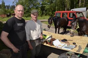 Nattlogi. Lars Eriksson i Brohyttan gav nattlogi åt Vaidotas Digaitis och hans två hästar.