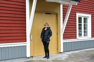 För Jennie Saporito blev det en överraskning att de – enligt nuvarande detaljplan – inte får öppna restaurang i gamla järnvägsstationen.
