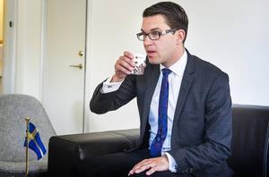 Sverigedemokraternas partiledare Jimmie Åkesson riktar hård kritik mot Bert Karlsson för att cyniskt utnyttja asylpolitiken.