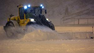 Stormen Egon såg till det att vräkte ner snö över Västanfors IP.