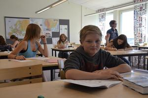 Flitig. Martin Eriksson är en av eleverna på sommarskolan på Lekebergsskolan.