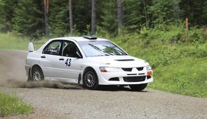Patrik Åkerman, Ljusdals MS, styrde in som trea i Rally Norduppland.