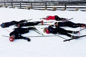 Tuff träning på hög höjd. Skidskytteeleverna Josefin Jonsson, Sara Östling, Linn Kvarnström, Agnes Fredholm, Jonas Persson och Hanna Carlström var med på resan till Nya Zeeland.