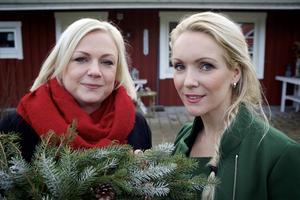 Tina Persson och Jessica Engström vill inspirera andra genom sin pysselblogg.