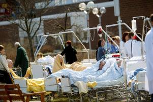 Den 12 maj anlades en brand i sjukhusets källare. Ett trettiotal patienter evakuerades eftersom det fanns risk för rökspridning.