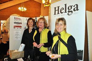 Den ideella föreningen Helga var initiativtagare till mässan, och var nöjda med besökarantalet trots att det kom lite färre folk i år.   Foto: Carin Selldén