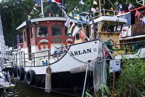 Stockholms Skeppsförening kommer med många fina båtar när det är dags för kanalens dag. Den här bilden är från 2016. Foto: Johanna Enbäck.