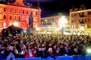Förra årets Lyslördag då Loa Falkman stod på scen. Bild: Håkan Humla