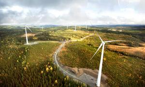 Vindkraftparken i Stamåsen.