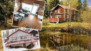 På veckans Klicktoppen i Dalarna finns flera fritidshus. Foto: Montage