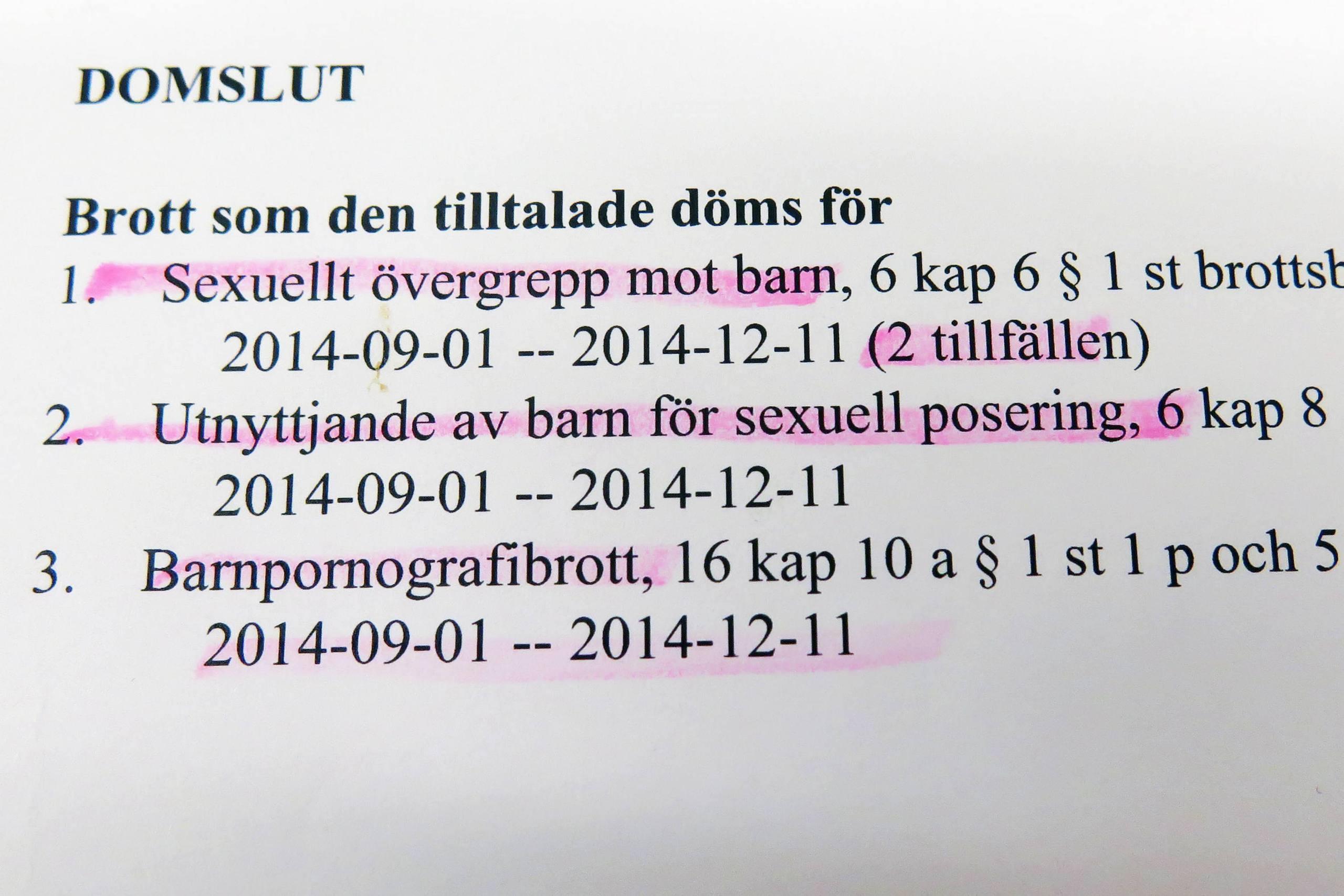 Fangelse for sexovergrepp mot barn
