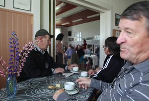 När TH kom till Ytterberg var det allsång på programmet. Lokalerna var välfyllda och många fick sitta i rummet bredvid.