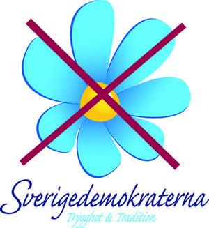 Sverigedemokraterna delar ut flygblad till flyktingar i bland annat grekiska Lesbos. Flygbladet är undertecknat Sverigedemokraterna, SD-kvinnor och