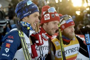 Marcus Hellner, Alex Harvey och  Marin Johnsrud Sundby