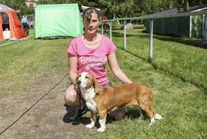 Anette Nordhs Kilhammars Alva tävlade i veteranklassen för dreverhundar.