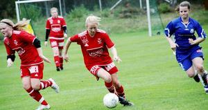 Kämpade. Agnes Andersson var mycket pigg framåt och svarade för matchens delikatess då hon gjorde 1-2-reduceringen.
