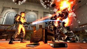 """ÅTERVÄNDER. """"Ghostbusters The Videogame"""" är det tredje kapitlet i sagan om spökvärldens svar på Anticimex. Dan Aykroyd och Harold Rais har skrivit manus och lockat större delen av skådespelarensemblen att medverka."""