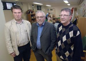 Så länge Björn Mårtensson sitter kvar som kommunalråd så har vi inget allianssamarbete med Centern längre sade de tre borgerliga partiernas talesmän Mikael Jonsson (M), Leif Cyrillius (KD) 0ch Lars Ekström (FP).