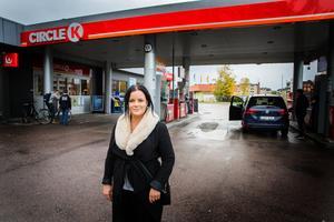 Ny ägare till Circle K i Arboga, Amanda Lund.