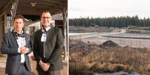 Mathias Strand och Paul Englis från Microsoft besökte Sandviken där ett av datacentren ska ligga.