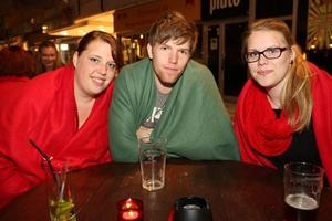 År 2011. Karin, Emil och Sarah på Pitchers. Foto: Emelie Ekblom Carlsson