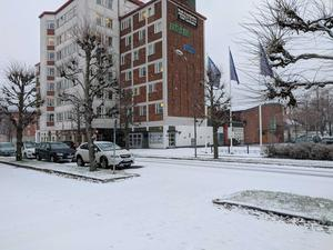 I Ludvika har snön också lagt sig.