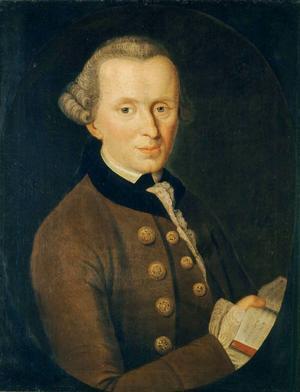Den tyske filosofen Immanuel Kant 1768. Målning av Johann Gottlieb Becker.