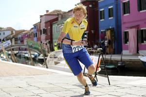 Full fart bland kanaler och smala gator när VM avgjordes i Venedig.