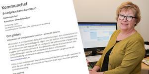 Senast den 16 januari vill kommunen ha in ansökningarna från de som hoppas bli Kerstin Söderlunds efterträdare. Foto: Arbetsförmedlingen & Torbjörn Granling/arkiv