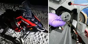 Snöskoterns lås var bortbrutet när den hittades vid en gård i Ramsjö.