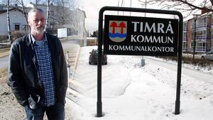 Krister Håkansson är Vänsterpartiet i Timrås första namn i kommunfullmäktige. Bilden är ett montage.