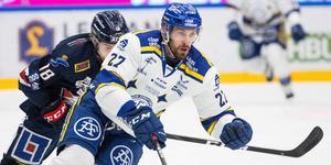 Leksandsstjärnan Marek Hrivik är tillgänglig för spel mot Linköping efter den skada som hållit honom borta från laget i tre veckor. Foto: Daniel Eriksson/Bildbyrån