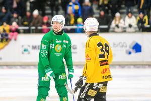 Robert Rimgård i Hammarbys tröja i en match mot Broberg.