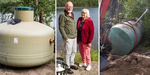 Många fastighetsägare med enskilda avlopp har fått nedslag vid kommunens inventering. Sven-Bertil och Ann-Christine Johansson byter nu ut sitt slutna system mot ett med slamavskiljare och markbädd.