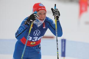 IFK Moras Ida Lindkvist, trea i 10 kilometer fri stil i säsongspremiären i Bruksvallarna.