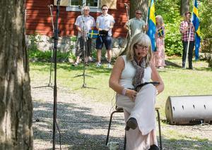 Ann-Britt Ryd Pettersson, tv-profil och första kvinnan på SVT:s  sport kom till hemstaden och talade. Hon lockade stor publik.