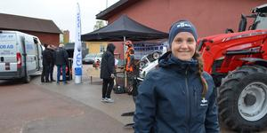 Skidorienteraren Magdalena Olsson är regionchef för Siljan Skog Syd. Hon var med och ordnade skogsägarmässan vid gruvan på torsdagen.