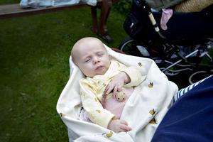 Gårdsauktionens yngsta besökare var Harriet 2 månader.