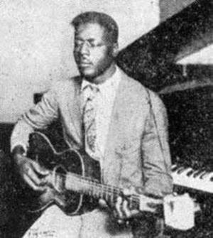 Den enda kända bilden på Blind Willie Johnson. Foto: Columbia Records