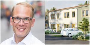 """""""Många vill bo i Nykvarn och då vill vi hjälpa till att bygga"""", säger Henrik Lindblad om de planerade radhusen. Bild: FB bostad"""