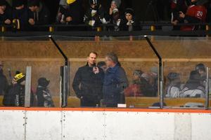 Nicklas Lidström intervjuades i pausen i finalen.