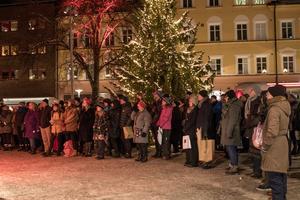 En hel del publik blev det till slut när Good Harvest avslutade julskyltningssöndagen.