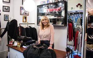 Mina Marn Campese har drivit sin second hand-butik i 40 år.