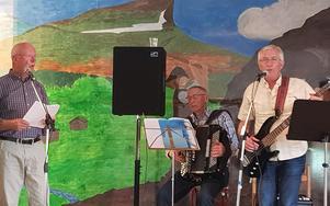 Musik i samband med lunchen bjöd Lars Lorentzi, Alf Jonsson och Ture Myhr på. Foto:Britt Bergkvist