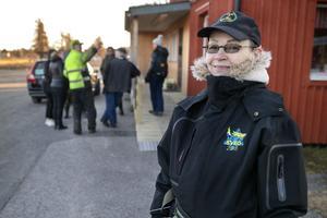 Marie Sundberg var med och letade under både natten och måndageseftermiddagen efter den man var anmäld försvunnen.