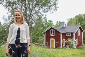 Nu i efterhand tycker Cecilia Rydberg inte att det var optimalt att flytta in i torpet ensam på senhösten.