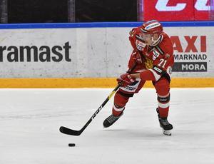 Marek Daloga fick kliva av matchen mot Färjestad. Det är osäkert om han kan spela mot Skellefteå.