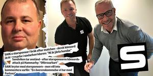 Marco Engborg är inte längre kvar som storsponsor i SAIK – vilket öppnar för nya samarbeten. Här skriver Urban Nyberg och Clockworks vd Petter Lundgren kontrakt som gör att Clockwork blir officiell partner.