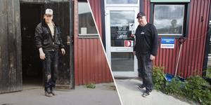 Till vänster en bild på Pär Bryngelsson när verksamheten startade, till höger en bild från samma plats 30 år senare.